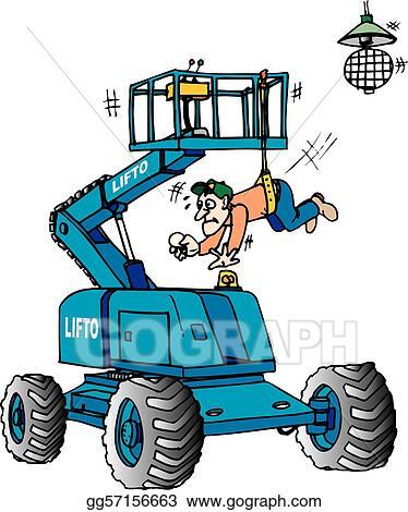 Clip Art Vector - Boom lift. Stock EPS gg57156663 - GoGraph
