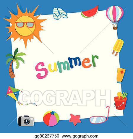 vector art border design with summer theme eps clipart gg80237750