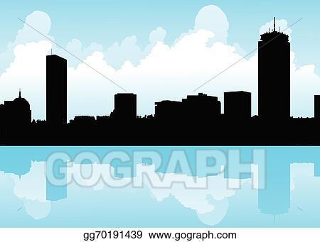 vector art boston skyline clipart drawing gg70191439 gograph rh gograph com london skyline clipart city skyline clipart