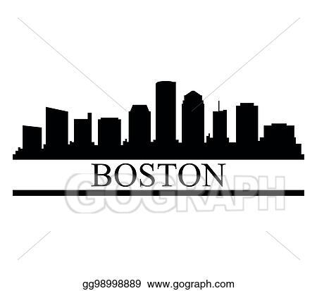 vector illustration boston skyline eps clipart gg98998889 gograph rh gograph com Boston Skyline Silhouette Outline boston skyline vector free