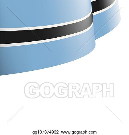 Clip Art Vector - Botswana flag, vector illustration on a white