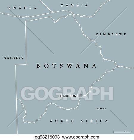Botswana Political Map.Vector Stock Botswana Political Map Stock Clip Art Gg98215093