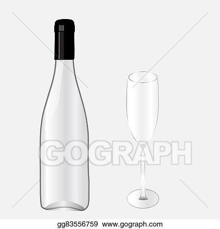vector art bottel and glass i eps clipart gg83556759 gograph