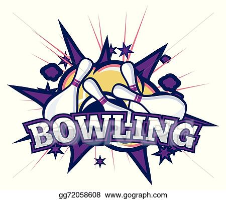 Bowling purple. Vector clipart illustration gg