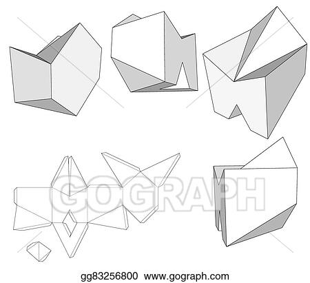 Box With Die Cut Template Packing For Food Gift Or Other Products Ready Your Design Product Vector EPS10