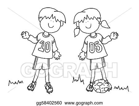 View Cartoon Soccer Player Black And White Pictures