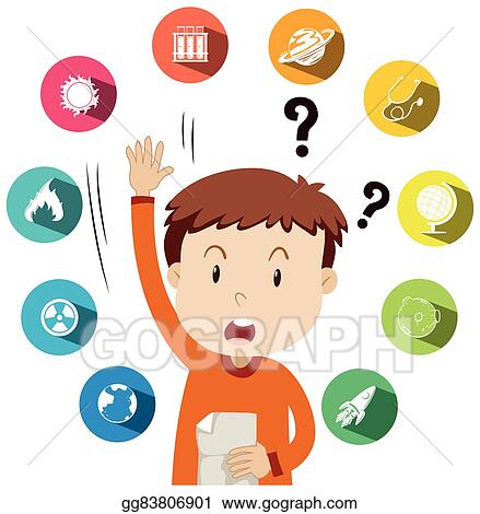 vector stock boy asking questions about school work clipart rh gograph com school work clipart black and white doing school work clipart