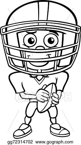 Boy Football Player Coloring Page