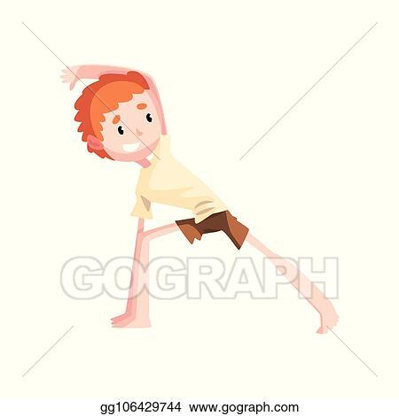 Vector Art Boy Practicing Capoeira Kid Character Doing