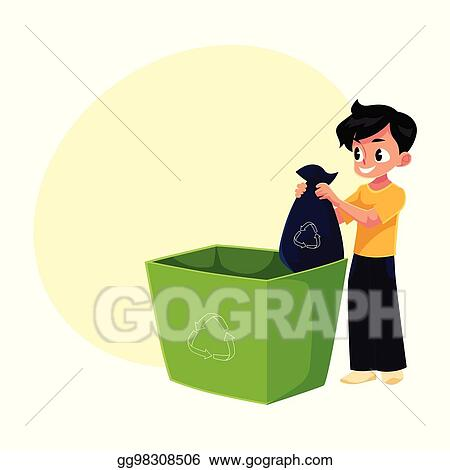 29 Kid Taking Out Trash Illustrations, Royalty-Free Vector Graphics & Clip  Art - iStock