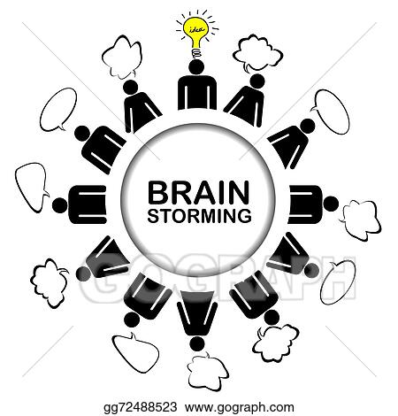 stock illustration brainstorming concept with teamwork discussing rh gograph com brainstorming clipart brainstorming animated clipart