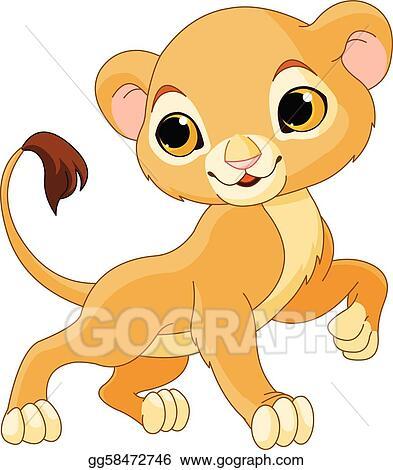 vector art brave lion cub clipart drawing gg58472746 gograph rh gograph com cartoon lion cub clipart cute lion cub clipart