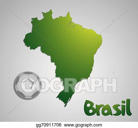 Eps vector brazil map card paper 3d natural for 2014 fifa world brazil map card paper 3d natural for 2014 fifa world cup gumiabroncs Gallery