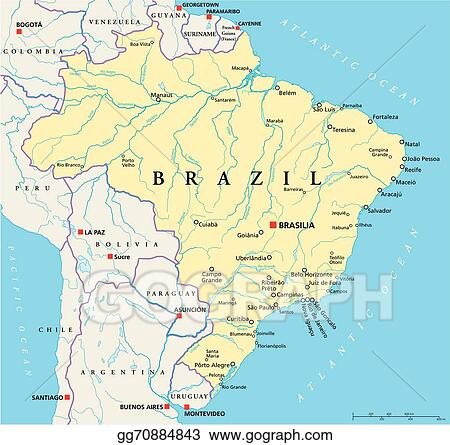Vector Stock Brazil Political Map Stock Clip Art Gg - Brazil political map