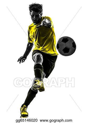 663173090 Stock Photograph - Brazilian soccer football player young man ...