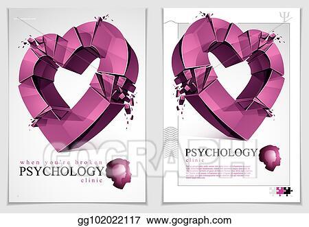 Eps Illustration Breakup Concept Of Broken Heart 3d Realistic