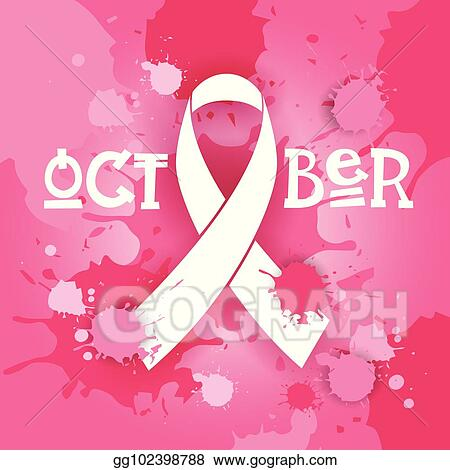 dc51563842d Vector Stock - Breast cancer awareness month pink ribbon symbol ...