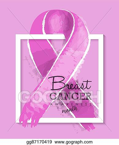Vector Art Breast Cancer Awareness Ribbon Illustration Design Eps