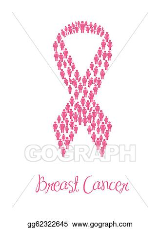 Vector Illustration Breast Cancer Awareness Ribbons Stock Clip
