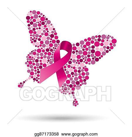 Clip Art Vector Breast Cancer Butterfly Illustration For Support Stock Eps Gg87173358 Gograph