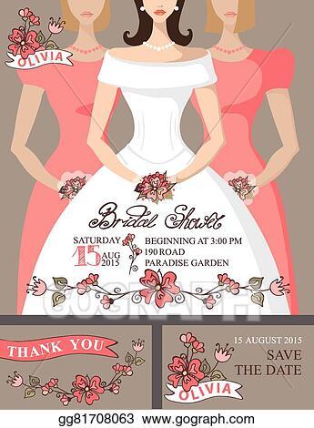 bridal shower invitation setbridebridesmaidscute floral decor