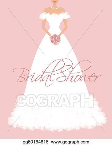 Eps vector bridal shower invitation stock clipart illustration bridal shower invitation filmwisefo