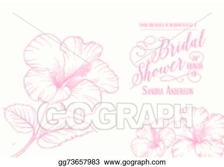 Vector stock bridal shower invitation clipart illustration bridal shower invitation filmwisefo