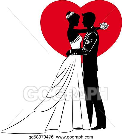 Bride And Grooms Silhouette