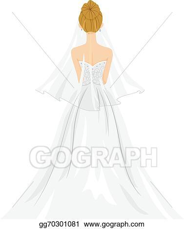Clip Art Bride Dress in Back