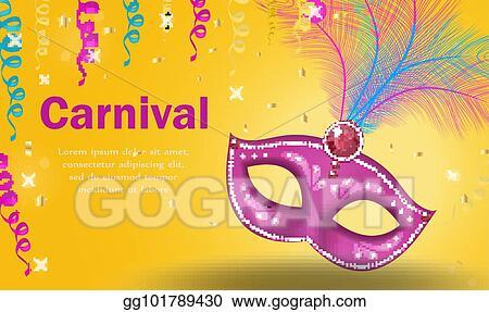 vector art bright carnival poster invitation greeting card