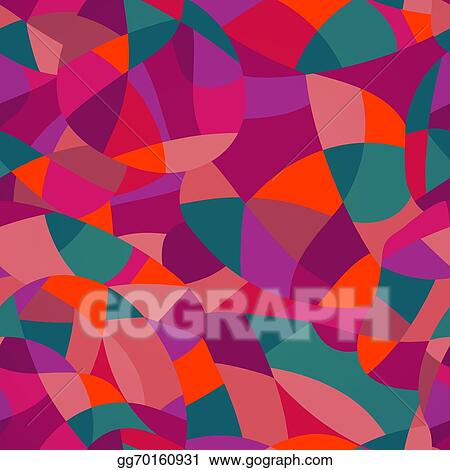 vector stock bright colors mosaic seamless pattern vector illustration looks like patchwork or stained glass window abstract pattern with geometric motifs stock clip art gg70160931 gograph https www gograph com clipart license summary gg70160931