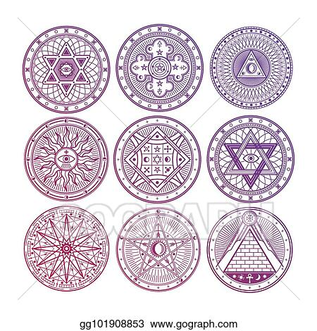 Vector Stock Bright Mystery Witchcraft Occult Alchemy Mystical