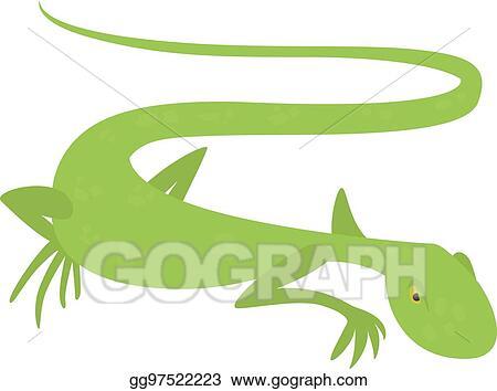 e4e70b1b95a2a EPS Vector - Brisk lizard icon, cartoon style. Stock Clipart ...