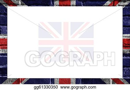 Stock Illustration - British flag frame - uk. Clipart Drawing ...