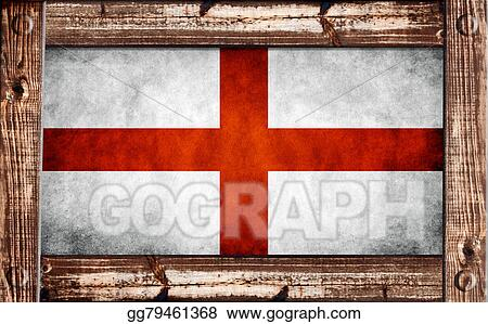 Clipart - British flag in a wooden frame. Stock Illustration ...