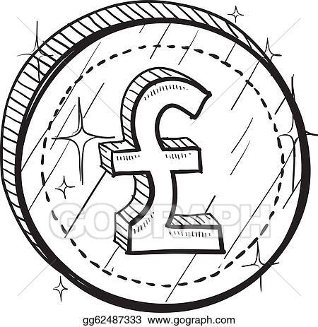 Vector Stock British Pound Sketch Clipart Illustration Gg62487333