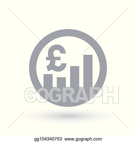 Eps Illustration British Pound Stock Market Icon Great Britain