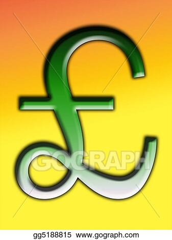 Stock Illustration British Pound Clipart Drawing Gg5188815 Gograph