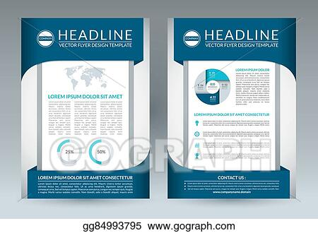 Vector Clipart - Brochure flyer design layout template  a4