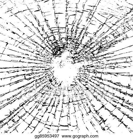 Vector Stock - Broken glass grunge texture black white