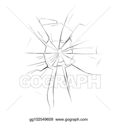 Vector Stock - Broken glassware window or damaged screen. Stock Clip ...