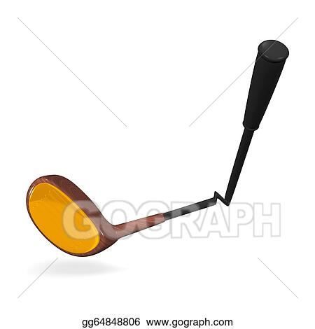stock illustration broken golf club clip art gg64848806 gograph rh gograph com
