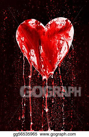 Drawings Broken Heart Bleeding Heart Stock Illustration