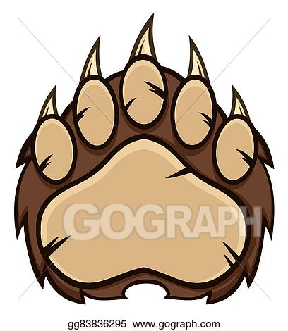 vector illustration brown bear paw with claws stock clip art rh gograph com bear paw print clipart bear paws clipart