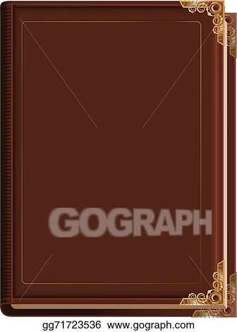 Vector Illustration - Brown closed book  EPS Clipart