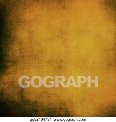 Brown Gold Background Abstract Paint On Black Border Vintage Grunge Texture Web Design Warm Shiny Light Christmas Wring