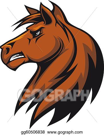 vector stock brown stallion clipart illustration gg60506838 gograph rh gograph com Arabian Stallion Italian Stallion