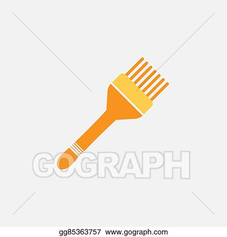 Vector Stock - Brush hair dye colored icon. Stock Clip Art ...