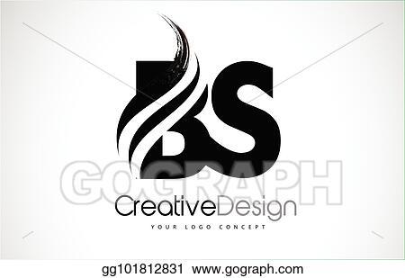 Eps Illustration Bs B S Creative Brush Black Letters