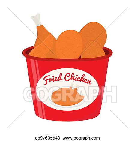 Fried Chicken Vector Graphic Clipart Stock Vector (Royalty Free) 1429925726